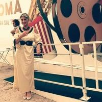 L'attrice Francesca Stajano Sasson e la poesia! Grande successo All'Isola del Cinema per la presentazione novità catalogo della Escamontage Edizioni!