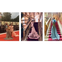 Viola Ambree guest at the 75th Venice Film Festival, but not only: On the red carpet two sartorial pieces and protagonist at the exclusive photo shooting at the hotel Danieli