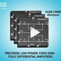 Amplificatori interamente differenziali/ADC-driver low power ad alta precisione a guadagno fisso