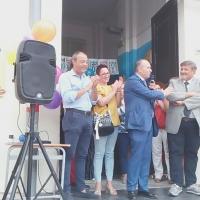 Mariglianella Festa dell'Accoglienza alla Scuola Elementare con il saluto del Sindaco Felice Di Maiolo.