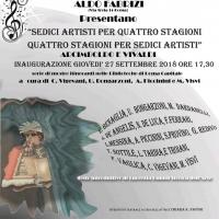 Sedici artisti per quattro stagioni, quattro stagioni per sedici artisti, Arcimboldo e Vivaldi. La mostra a San Basilio.