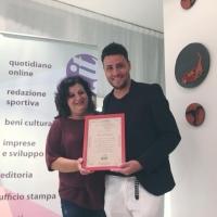 Antonio Zeno ha ricevuto dalla redazione del quotidiano web Il Mediano il premio eccellenza 2018