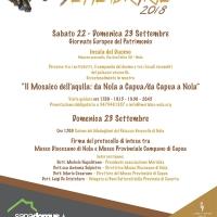 Giornate Europee del Patrimonio 2018: dopo 150 anni torna a Nola il