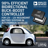 Controller bidirezionale buck-boost con efficienza del 98%   per sistemi 12V-12V a batteria ridondante nei veicoli a guida autonoma