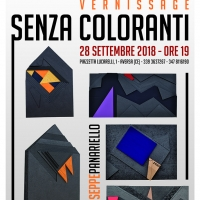 """""""SENZACOLORANTI"""" di Giuseppe Panariello, vernissage il venerdi 28 settembre 2018 alle ore 19"""