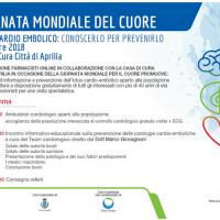Associazione Farmacisti online: Aprilia screening gratuiti Giornata Mondiale del Cuore