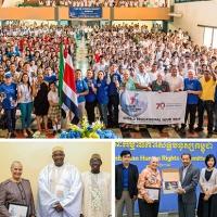Il Tour Educativo Mondiale di Gioventù per i Diritti Umani visita sette nazioni