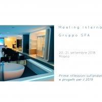 A Milano il Meeting Internazionale Gruppo SFA Prime riflessioni sull'andamento 2018 e progetti per il 2019