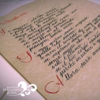 Pergamene artigianali scritte a mano: un regalo unico | Rino Pensa Pergamene
