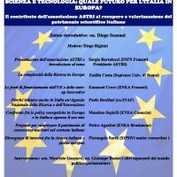 SCIENZA E TECNOLOGIA: QUALE FUTURO PER L'ITALIA IN EUROPA?