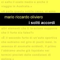 """Edizioni Leucotea in collaborazione con la collana Project annuncia l'uscita del nuovo libro di Mario Riccardo Oliviero """"I soliti accordi"""""""