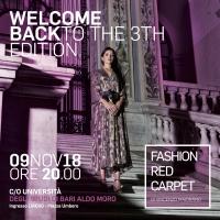 La terza edizione del Bari Fashion Red Carpet: il 9 novembre all'Università