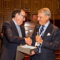 Gian Andrea Pedrazzini, presidente e fondatore del Gruppo Inpeco, ha ricevuto il premio per l'innovazione in ambito della Medicina di Laboratorio