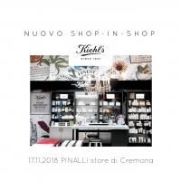 Pinalli: un nuovo shop-in-shop  Kiehl's nello store di Cremona