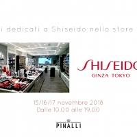 Pinalli: tre giorni dedicati a Shiseido nello store di Parma