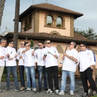 Gruppo di chef stellati a Villa di Bacco il 23 novembre, cena stellata e raffinata con una brigata di fuoco