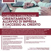 Accademia Universitaria degli studi Giuridici Europei - Corso Orientamento all'avvio di impresa