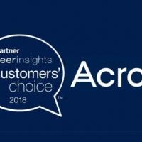 Acronis riceve il riconoscimento Gartner Peer Insights Customers' Choice 2018 per le soluzioni di backup e ripristino per data center