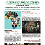 L'8 marzo con le Regine ed Eroine d'Africa per la PACE ed il cambiamento in Mali