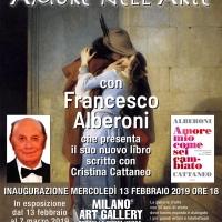 Francesco Alberoni alla Milano Art Gallery per inaugurare la mostra Amore nell'Arte
