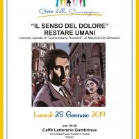 """Al Caffè Gambrinus """"Il Senso del Dolore. Restare Umani"""" di Maurizio De Giovanni"""