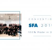 """Convention SFA 2019:  """"100% Made in SFA""""  Con tante novita' di prodotto e  nuovi progetti a supporto delle vendite"""