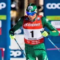 Francesco De Fabiani sul podio a Cogne