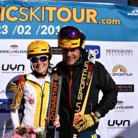 """""""EPIC SKI TOUR"""" AL CAMPIONE DEL MONDO BOSCACCI. BIS DELLA CAMPIONESSA D'EUROPA MOLLARET"""