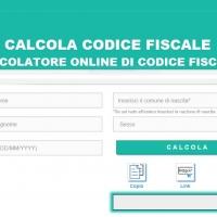La comodità del calcolatore online di codice fiscale