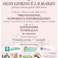 Pomigliano d'Arco festeggia la donna: musica, prevenzione, antiviolenza e make-up gratuiti in piazza
