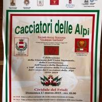 Cividale del Friuli:Inaugurazione Monumento ai Cacciatori delle Alpi.17 marzo 2019