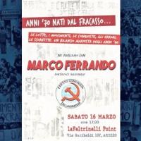 Incontro con Marco Ferrando alla libreria Feltrinelli di Arezzo