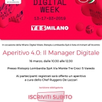 "APERITIVO 4.0 :""IL MANAGER DIGITALE"""