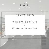 Pinalli Novita' 2019: 3 nuove aperture e 13 ristrutturazioni