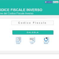 Il codice fiscale inverso