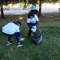 Pulizia dell'area verde di via  Brodolini a Marotta; piccole azioni sull'ambiente che fanno la differenza