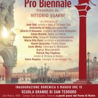Sgarbi presenta la Pro Biennale a Venezia con tanti amici vip