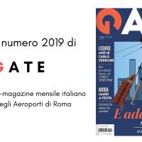 Da questo mese il mensile GATE  presente negli aeroporti di Roma nella sua veste completa