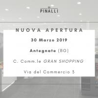 Nuova apertura Pinalli 30 Marzo 2019 – Antegnate (BG)