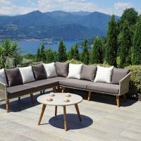 Corner Set Genova di Greenwood.  Stile ricercato e maxi comfort per il giardino