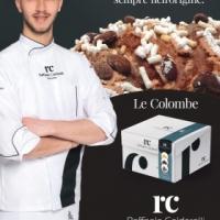 La colomba artigianale del pasticciere Raffaele Caldarelli, disponibile in cinque deliziose versioni