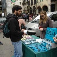Mondo Libero dalla Droga in Piazza delle Erbe a Padova
