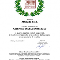 Assegnati i Sales Excellence Awards 2019: Attitude Ltd premiata come azienda eccellente 2019