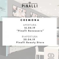 """Pinalli: riapertura del beauty store di Cremona e inaugurazione del centro estetico """"Pinalli Benessere"""""""