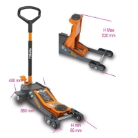 Sollevatore Beta 3030/2T: ottima manovrabilità per ogni tipo di pavimentazione