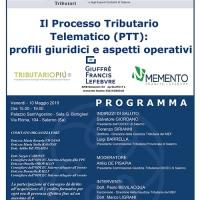 PROCESSO TRIBUTARIO TELEMATICO, DOMANI WORKSHOP DELL'ORDINE DEI DOTTORI COMMERCIALISTI ED ESPERTI CONTABILI DI SALERNO
