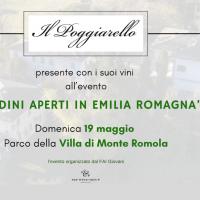 Il Poggiarello presente con i suoi vini all'evento organizzato dal FAI Giovani a 'Giardini aperti in Emilia Romagna'