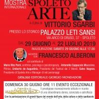 Francesco Alberoni alla mostra di Spoleto Arte a cura di Vittorio Sgarbi