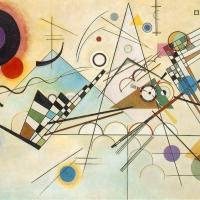 Wassily Kandinsky. Schichtweise ar in new york