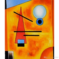Kandinsky's Schichtenweise : Color became more an expression of emotion rather than a faithful description of nature or subject matter.
